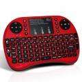 Red Rii i8+ Mini Wireless 2.4G Back Light Touchpad Keyboard with Mouse for PC/Mac/Android