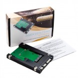 Syba 2.5-Inch SATA to mSATA SSD Adapter Multimedia Drive Bay Adapter - Internal / External with 2.5 inch Casing. Support both PC / Laptop. Can be configured as bootable.