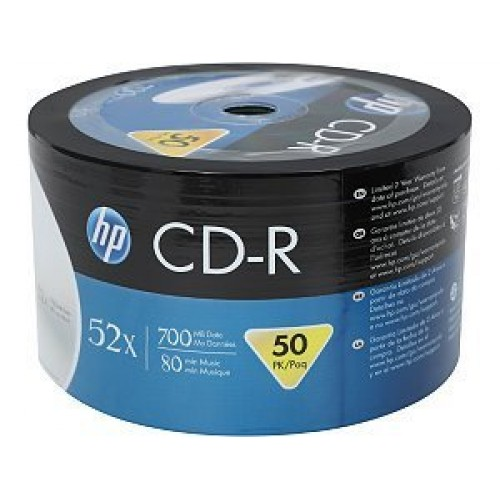 photo about Hp Printable titled HP CD-R Inkjet Printable 80min/52x