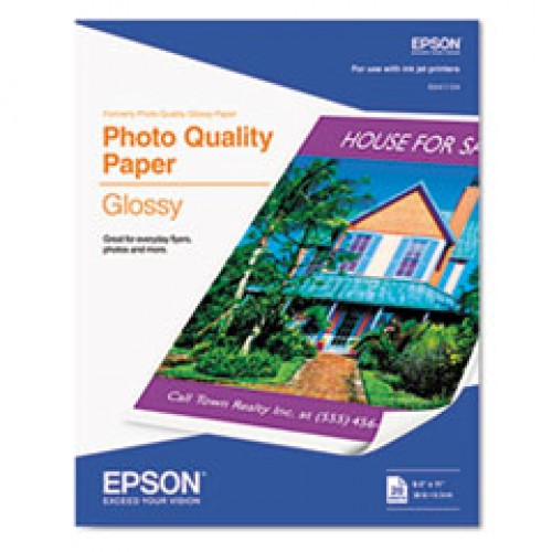 Epson Glossy Photo Paper 20 Sheets per Pack 8.5 x 11 Inches S041141