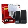 Genius SP-S110 2 Piece Stereo PC Speakers 100W PMPO